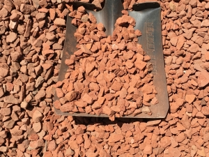 3/4 in Crushed Brick